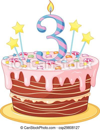 gâteau, anniversaire - csp29808127