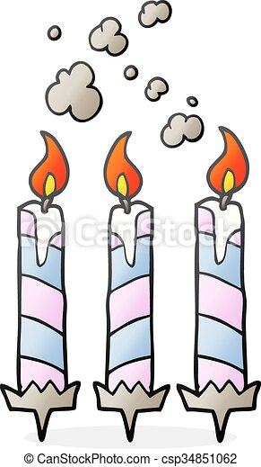 G teau bougies anniversaire dessin anim bougies - Dessin bougies anniversaire ...