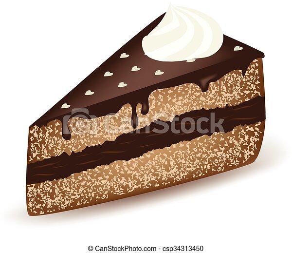 gâteau, chocolat - csp34313450