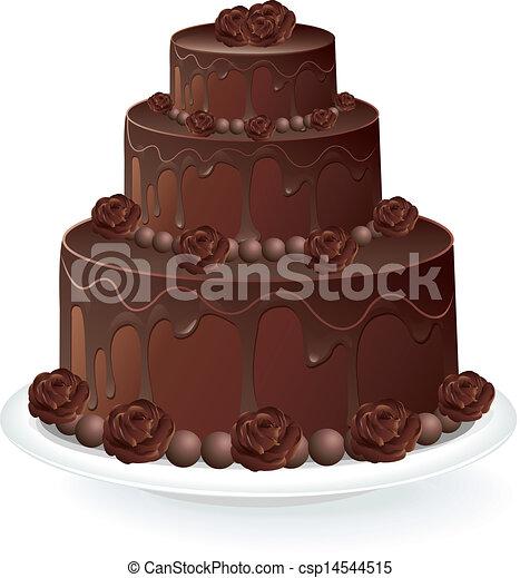 Gateau Chocolat Gateau Vecteur Chocolat