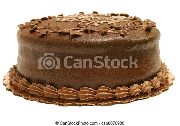 gâteau, entier, chocolat - csp0076980