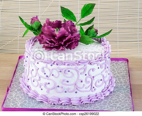 Gâteau Fleur Mariage