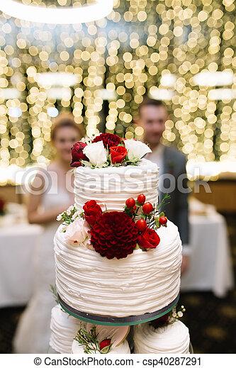 Gâteau Fleurs Mariage