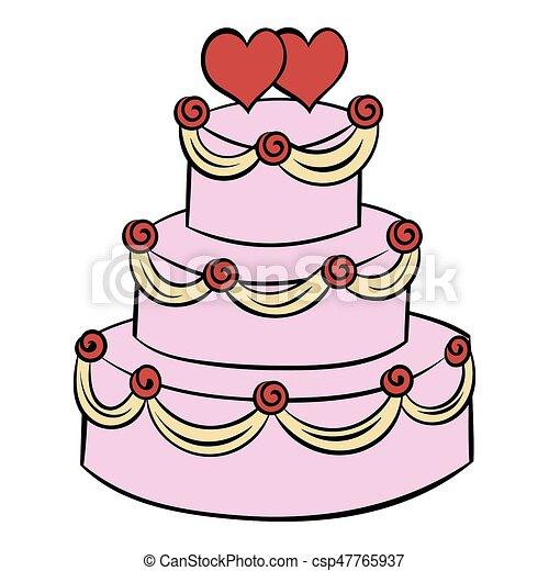 gteau mariage dessin anim icne csp47765937 - Dessin Mariage