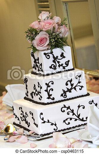 gâteau, mariage - csp0463115