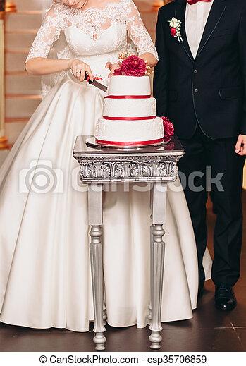 Gâteau Table Décoré Luxe Mariage