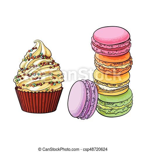 G teaux color petit g teau desserts macaron - Dessert dessin ...