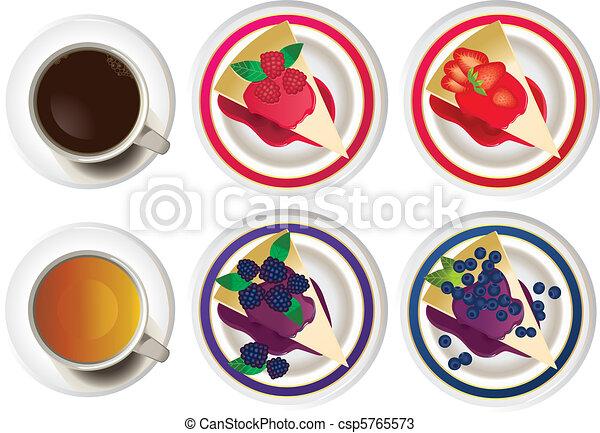 gâteaux, drinks., chaud - csp5765573