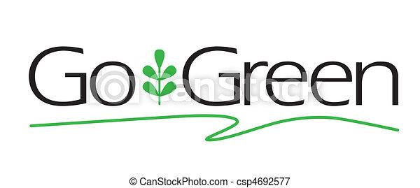 gå, grön, typ - csp4692577