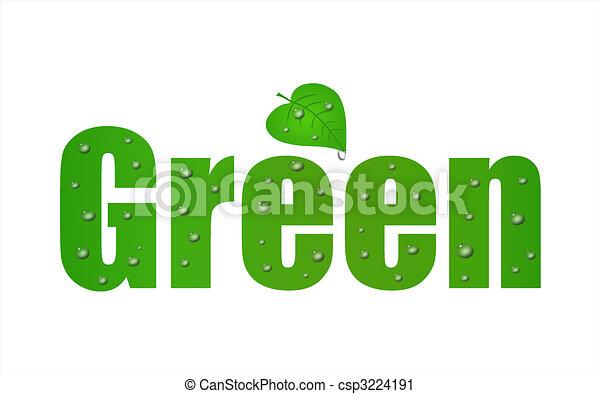 gå, grønnes blad - csp3224191