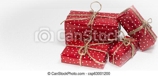 gåva, utrymme, text, rutor, bakgrund, vit jul, tom - csp63001200