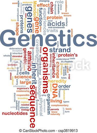 génétique, concept, adn, fond - csp3819913