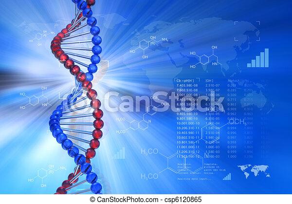 génétique, concept, ingénierie, scientifique - csp6120865