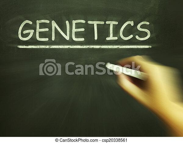 génétique, moyens, gènes, craie, hérédité, adn - csp20338561