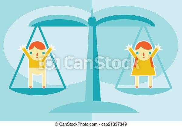 La igualdad de género - csp21337349