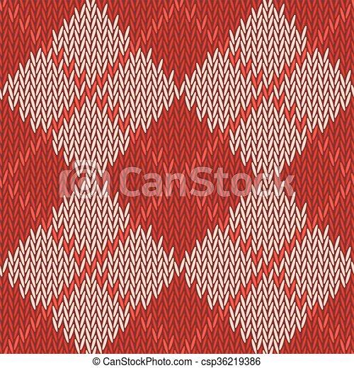 Patrón de fondo sin costura de textura de color rojo con ropa de lana cuadrada color beige - csp36219386