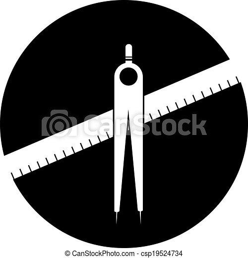géométrie, compas - csp19524734