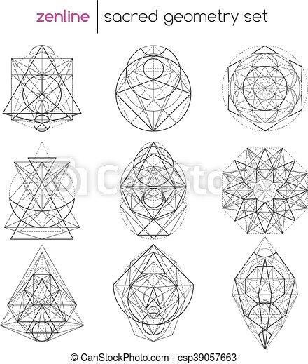 géométrie, ensemble, sacré - csp39057663