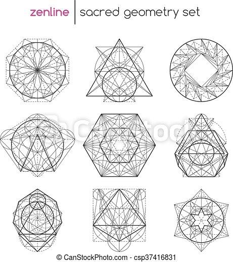 géométrie, ensemble, sacré - csp37416831