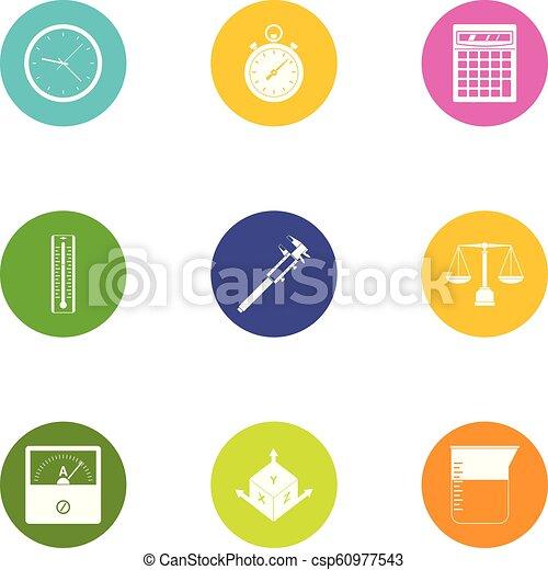géométrie, ensemble, style, icônes, plat - csp60977543