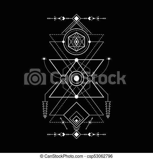géométrie, magie, navajo, triangle, sacré - csp53062796