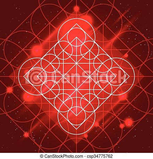 géométrie, magie, signe - csp34775762