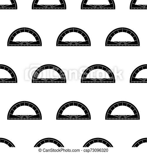 géométrie, outillage, rapporteur, seamless, modèle, icône - csp73096320