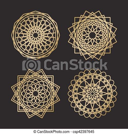 géométrie, symboles, ornement, sacré - csp42397645