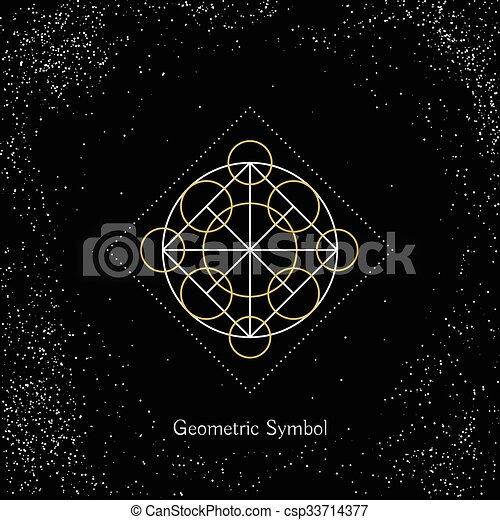géométrie, vecteur, magie, signe - csp33714377