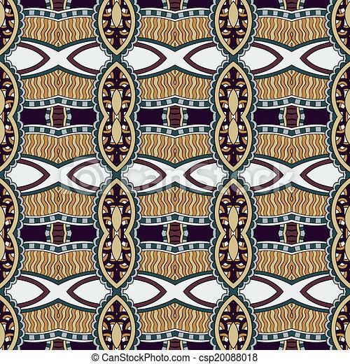 géométrie, vendange, floral, seamless, modèle - csp20088018