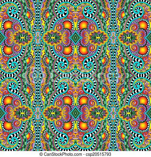 géométrie, vendange, floral, seamless, modèle - csp20515793