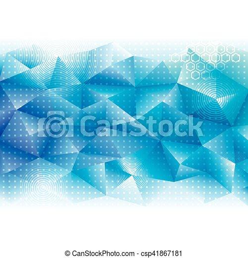 géométrique, technologie, fond - csp41867181