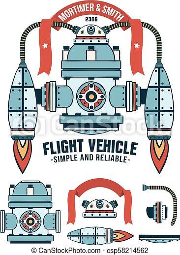gép, fantasztikus, repülés, reagens - csp58214562
