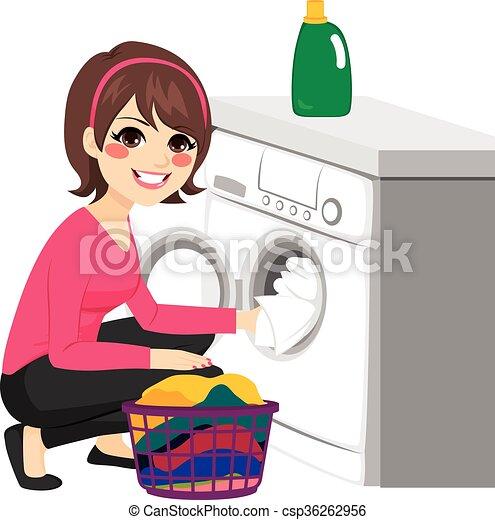 gép, nő, mosás - csp36262956