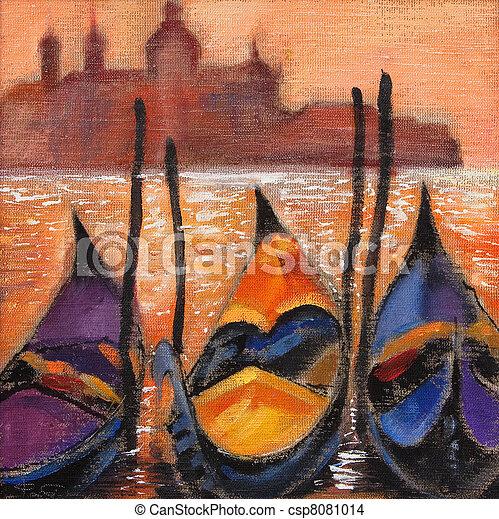 Gondolas en Venecia - csp8081014