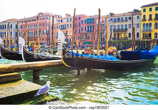 Gondolas en Venecia - csp1803557