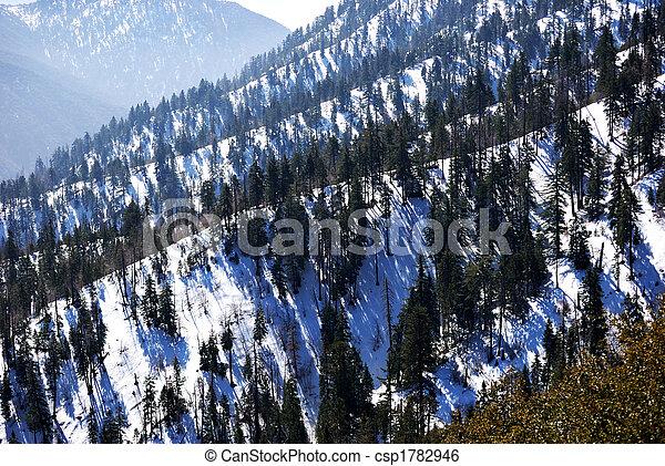 góry, śnieg capped - csp1782946