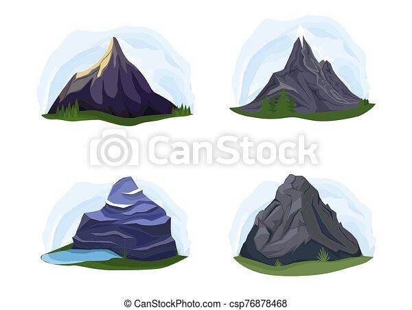 góry, komplet, natura - csp76878468