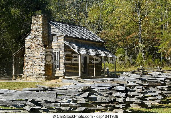 góry, wielki, kloc, dymny, park, zatoczka, kabina, krajowy, cades - csp4041936