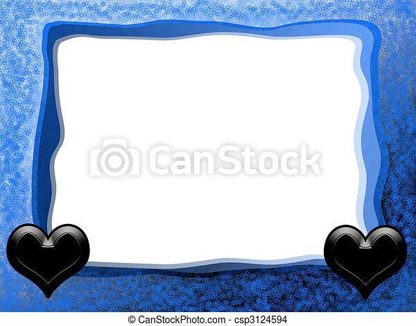 Gótico, marco, amor. Azul, amor, romántico, marco, gótico, plano de ...