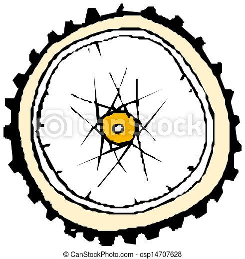 gördít, bicikli, -, vektor - csp14707628