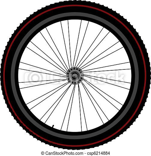 gördít, korong, bicikli, bekapcsol, kerék - csp6214884