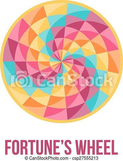 gördít, motívum, elvont, szerencse, geometriai - csp27555213