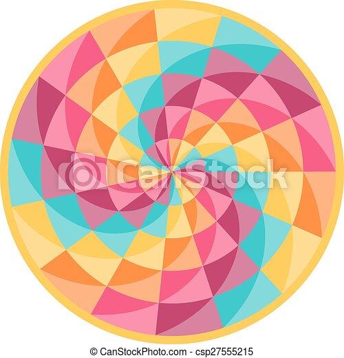gördít, motívum, elvont, szerencse, geometriai - csp27555215