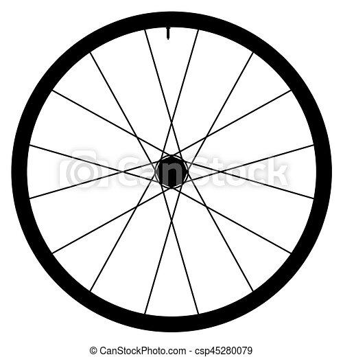 gördít, vektor, -, ábra, bicikli, háttér, fehér - csp45280079