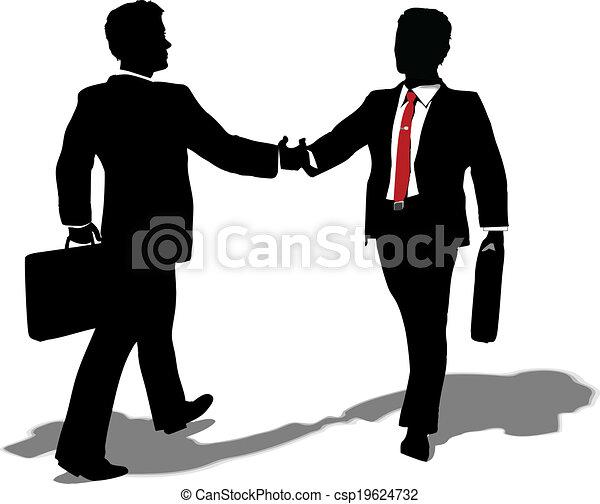 gøre bekendtskab med, forarbejde, deal, folk branche - csp19624732