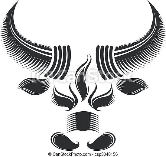 głowa, byk - csp3040156