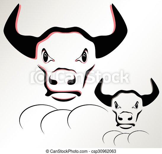 głowa, byk - csp30962063