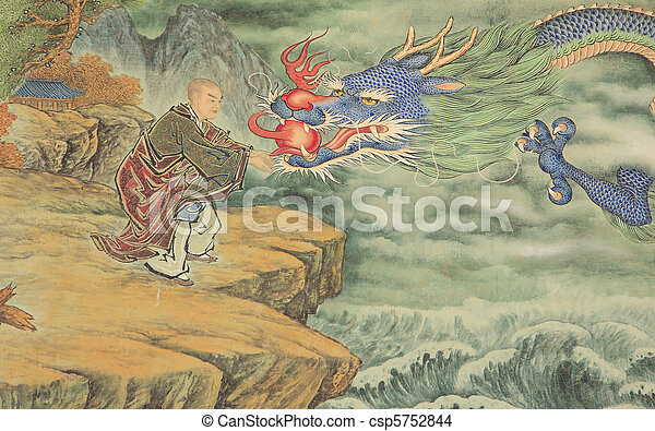 głowa, dragon's - csp5752844