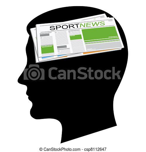 głowa, gazety - csp8112647